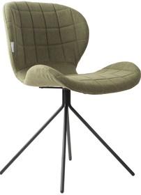 Krzesło OMG w kolorze zielonym marki Zuvier  Materiał: Siedzenie i oparcie krzesła wykonane ze sklejki. Pokryte miękkim materiałem i tkaniną z...