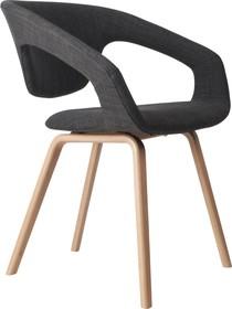 Komfortowy fotel FLEXBACKmarki Zuiver wykonany został z najwyższych jakościowo materiałów.  Materiał: nogi wykonane z drewna bukowego...
