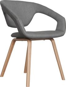 Fotel FLEXBACK - naturalny/jasny szary