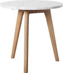 Stolik White Stone średni M  Materiał: Blat marmurowy, rama stołu wykonana z litego drewna dębowego.  Wymiary: Grubość blatu 18 mm...