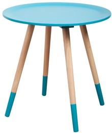 Stolik kawowy Two Tone  Materał: Blat wykonany z 10mm sklejki, wykończony drewnopodobna okleiną w kolorze niebieskim. Nogi wykonane z drzewa...