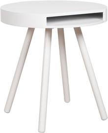 Stolik HIDE & SEEK marki Zuiver w kolorze białym.Posiada wygodną kieszeń pod blatem, idealną na pocztę lub gazety.  Materiał: Blat wykonany...
