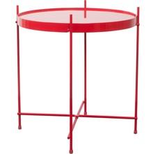 Stolik kawowy CUPIDmarki Zuiver  Materiał: metal w kolorze czerwonym Wymiary: Średnica: 43 cm Wysokość: 45 cm  Dostępne wymiary stolika: - 62,5...