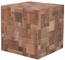 Stolik Mosaic. Wykonany w stylu patchwork z drzewna z odzysku.  Materiał:drewno tekowe, akacjowe niewykończone  Wymiary: 40x40x40cm