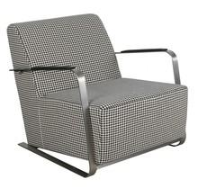 Fotel ADWIN - czarno-biały