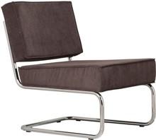 Fotel Ridge Lounge Rib  Materiał: Obicie fotela wykonane ze sztruksu w kolorze szarym Rama metalowa, chromowana z połyskiem  Wymiary: Wysokość:79 cm...