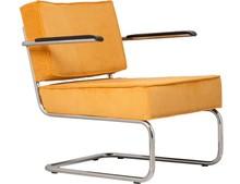 Fotel Lounge RIDGE RIB ARM - żółte