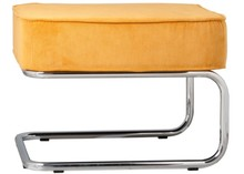 Stołek Ridge Rib.Obicie stołka wykonane z materiału podobnego do filcu (88%nylon, 12% polyester) w kolorze żółtym. Rama metalowa. chromowana...