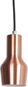 Lampa wisząca Mora S Copper w kolorze miedzianym.  Materiał: Metalowy oprawa świetlna, przewód w kolorze miedzianym, metalowa podsufitka także w...