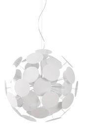 Lampa wisząca Plentywork White. Lampa w kolorze białym, wykonana z metalu na wzór pinesek o różnej długości. Przewód elektryczny przeźroczysty,...