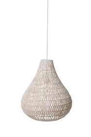 Lampa wisząca Cable drop White  Materiał: Lampa w kolorze białym. Wykonana ze splotu metalowego drutu oraz papieru.  Wymiary: Podsufitka o...