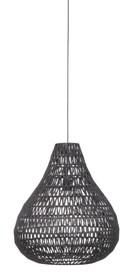 Lampa wisząca Cable drop Black  Materiał: Lampa w kolorze czarnym. Wykonana ze splotu metalowego drutu oraz papieru.  Wymiary: Podsufitka o...