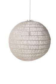 Lampa wisząca Cable 60 White.  Materiał: Wykonana ze splotu metalowego drutu oraz papieru. Chromowana podsufitka oraz szkielet podtrzymujący abażur. ...