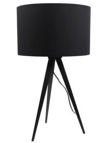 Lampa stołowa Tripod marki Zuiver w kolorze czarnym.  Materiał: Podstawa wykonana z metalu, lakierowane w kolorze czarnym.  Rodzaj żarówki: E27 ...