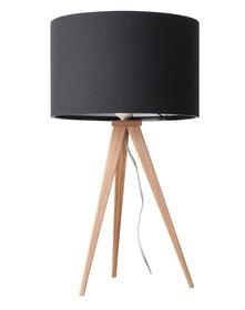 Lampa stołowa Tripod marki Zuiver w kolorze czarnym.  Materiał: Podstawa wykonana z metalu, pokryte wysokiej jakości okleiną w kolorze naturalnego...