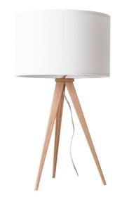 Lampa stołowa Tripod marki Zuiver w kolorze białym.  Materiał: Podstawa wykonana z metalu, pokryte wysokiej jakości okleiną w kolorze naturalnego...