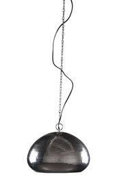 Lampa HAMMERED OVAL marki Zuiver.  Cechy: Wykonana z metalu, niklowana. Zawieszana na łańcuchu w kolorze lampy.   Wymiary:32x24 cm ( x W)...