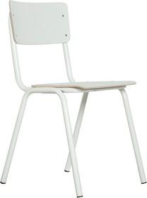 Krzesło BACK TO SCHOOL HPL w kolorze białym.  Materiał: Rama wykonana z metalu, siedzisko i oparcie z lakierowanej sklejki  Wymiary: Wysokość: 83 cm...