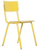 Krzesło BACK TO SCHOOL HPL w kolorze żółtym  Materiał: Rama wykonana z metalu, siedzisko i oparcie z lakierowanej sklejki  Wymiary: Wysokość: 83 cm...