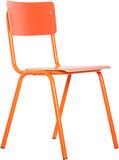 Krzesło BACK TO SCHOOL HPL w kolorze pomarańczowym.  Materiał: Rama wykonana z metalu, siedzisko i oparcie z lakierowanej sklejki  Wymiary:...