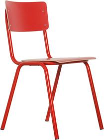 Krzesło BACK TO SCHOOL HPL w kolorze czerwonym  Materiał: Rama wykonana z metalu, siedzisko i oparcie z lakierowanej sklejki  Wymiary: Wysokość: 83 cm...