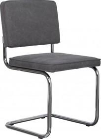 Krzesło RIDGE VINTAGE w kolorze szarym  Materiał: Obicie krzesła wykonane z bawełny Rama krzesła - metal, polerowany  Wymiary: Wysokość...