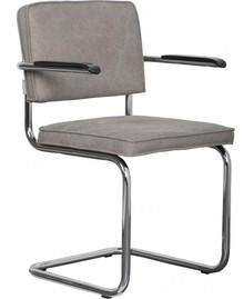 Krzesło RIDGE VINTAGE w kolorze szarozielonym, z podłokietnikami  Materiał: Obicie krzesła wykonane z bawełny Rama krzesła - stal szczotkowana....