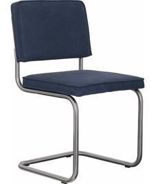 Krzesło RIDGE VINTAGE w kolorze granatowym  Materiał: Obicie krzesła wykonane z bawełny Rama krzesła - stal szczotkowana.  Wymiary:...