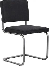 Krzesło RIDGE VINTAGE w kolorze czarnym  Materiał: Obicie krzesła wykonane z bawełny Rama krzesła - stal szczotkowana.  Wymiary:...