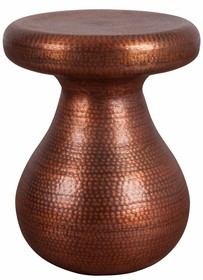 Stołek ANTIQUE, wykonany z miedzi.  Wymiary: 37x37x48cm