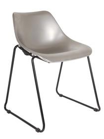 Krzesło BUCKET srebrne  Kolor:  - Srebrny  Wymiary:  - Wysokość: 73 cm - Szerokość: 52 cm - Głębokość: 50 cm  Materiał:  - Metal