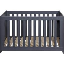 Łóżeczko dla dzieci NEW LIFE ciemnoszare  Kolor:  - Ciemnoszary  Wymiary:  - Wysokość: 79 cm - Szerokość: 125 cm - Głębokość: 66 cm ...