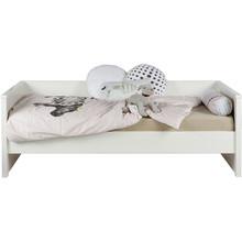 Łóżko z oparciem JADE  Kolor:  - Biały  Wymiary:  - Wysokość: 74 cm - Szerokość: 100 cm - Głębokość: 209 cm  Materiał:  - Sosna ...