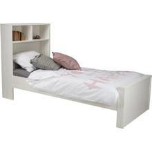 Łóżko MAX białe  Kolor:  - Biały  Wymiary:  - Wysokość: 123 cm - Szerokość: 95 cm - Głębokość: 220 cm  Materiał:  - Sosna ...