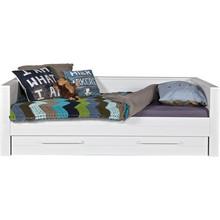 Łóżko ROBIN zabudowane białe  Kolor:  - Biały  Wymiary:  - Wysokość: 73 cm - Szerokość: 101 cm - Głębokość: 219 cm  Materiał:  -...