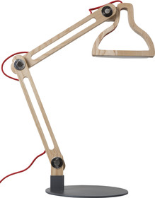 Lampka biurkowa LED IT BE wykonana z drewna, wykończona w naturalnym kolorze.  Źródło światła: LED Napięcie sieciowe: 100V-240V Stopień ochrony IP:...