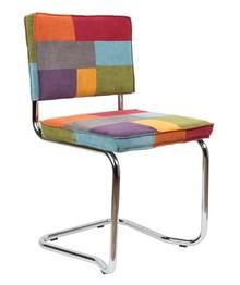 Krzesło RIDGE KINK RIB wielokolorowe  Materiał: Obicie krzesła wykonane z tkaniny, poliester Rama krzesła - chromowana  Wymiary: Wysokość...