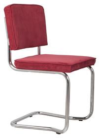 Krzesło RIDGE KINK RIB czerwone 21A  Materiał: Obicie krzesła wykonane z tkaniny, poliester Rama krzesła - chromowana  Wymiary: Wysokość...