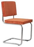 Krzesło RIDGE KINK RIB pomarańczowe 19A  Materiał: Obicie krzesła wykonane z tkaniny, poliester Rama krzesła - chromowana  Wymiary: Wysokość...