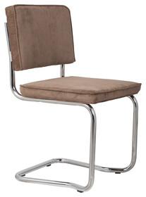 Krzesło RIDGE KINK RIB kawowe 8A  Materiał: Obicie krzesła wykonane z tkaniny, poliester Rama krzesła - chromowana  Wymiary: Wysokość...