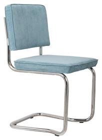Krzesło RIDGE KINK RIB niebieskie 12A  Materiał: Obicie krzesła wykonane z tkaniny, poliester Rama krzesła - chromowana  Wymiary: Wysokość...