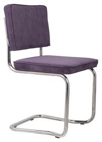 Krzesło RIDGE KINK RIB purpurowe 15A  Materiał: Obicie krzesła wykonane z tkaniny, poliester Rama krzesła - chromowana  Wymiary: Wysokość...