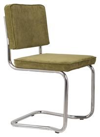 Krzesło RIDGE KINK RIB zielone 25A  Materiał: Obicie krzesła wykonane z tkaniny, poliester Rama krzesła - chromowana  Wymiary: Wysokość...