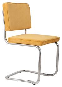 Krzesło RIDGE KINK RIB żółte 24A  Materiał: Obicie krzesła wykonane z tkaniny, poliester Rama krzesła - chromowana  Wymiary: Wysokość...