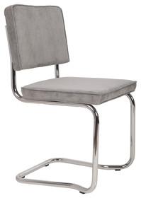 Krzesło RIDGE KINK RIB szare 32A  Materiał: Obicie krzesła wykonane z tkaniny, poliester Rama krzesła - chromowana  Wymiary: Wysokość...
