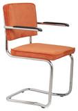 Fotel RIDGE KINK RIB pomarańczowy 19A  Materiał: Tapicerka: tkanina, sztruks Rama chromowana  Wymiary:60x48x85 cm  Warianty...