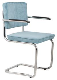 Fotel RIDGE KINK RIB niebieski 12A  Materiał: Tapicerka: tkanina, sztruks Rama chromowana  Wymiary:60x48x85 cm  Warianty...