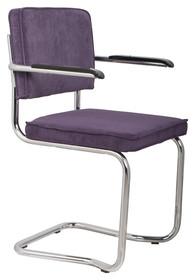 Fotel RIDGE KINK RIB purpurowy 15A  Materiał: Tapicerka: tkanina, sztruks Rama chromowana  Wymiary:60x48x85 cm  Warianty...
