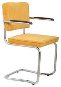 Fotel RIDGE KINK RIB żółty 24A  Materiał: Tapicerka: tkanina, sztruks Rama chromowana  Wymiary:60x48x85 cm  Warianty...