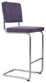Stołek barowy RIDGE KINK RIB purpurowy 15A  Materiał: Tapicerka: tkanina, sztruks Rama chromowana  Wymiary:48x50x113 cm  Warianty...